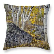 Scattered Gold Throw Pillow