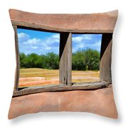 Scene From A Priests Window Throw Pillow