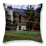 Scene Through A Volley Ball Court 2 Throw Pillow