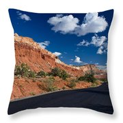 Scenic Drive Through Capitol Reef National Park Throw Pillow