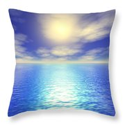 Scenic Ocean View Throw Pillow