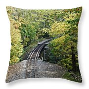 Scenic Railway Tracks Throw Pillow
