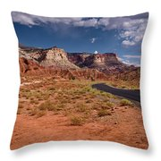 Scenic Road 2 Throw Pillow