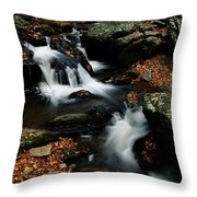 Scenic View Of A Waterfall On Smith Throw Pillow