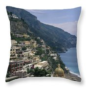 Scenic View Of The Beach And Hillside Throw Pillow