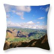 Scenic Waimea Canyon Throw Pillow