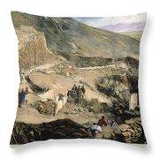 Schliemanns Excavation Throw Pillow