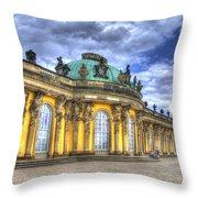Schloss Sanssouci     Berlin Throw Pillow