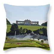 Schonbrunn Palace Gardens  Throw Pillow