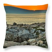 Schoodic Sunset Throw Pillow