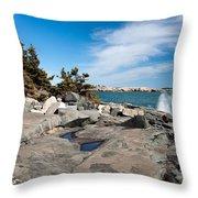 Schoodic Waves 4645 Throw Pillow
