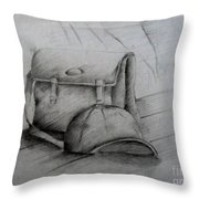 Still Life Study Drawing Practice Throw Pillow