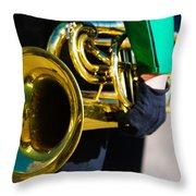 School Band Horn Throw Pillow