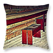 School House Benched And Dusted Throw Pillow
