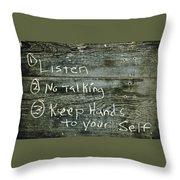 School House Chalkboard Throw Pillow