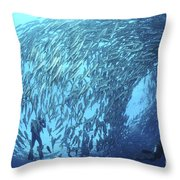 School Of Jacks And Divers At Liberty Throw Pillow