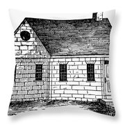 Schoolhouse, 18th Century Throw Pillow