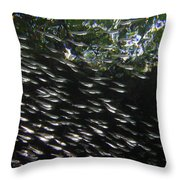 Schooling Fish Under Red Mangrove  Throw Pillow