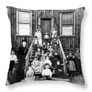Schoolmistress, 1893 Throw Pillow
