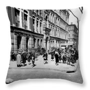 School's Out In Harlem Throw Pillow