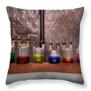 Science - Chemist - Glassware For Couples Throw Pillow