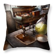 Science - Chemist - Scientific Discoveries  Throw Pillow by Mike Savad