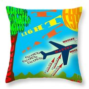 Science Classroom Poster On Physics Throw Pillow