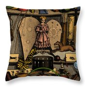 Science In The Nursery, Frontispiece Throw Pillow