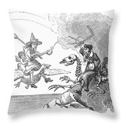 Science Vs. Mother Goose Throw Pillow