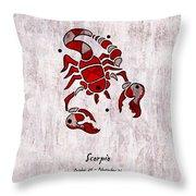 Scorpio Artwork Throw Pillow