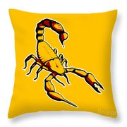 Scorpion Graphic  Throw Pillow