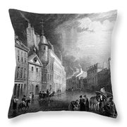 Scotland: Aberdeen, 1833 Throw Pillow