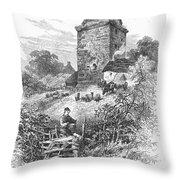 Scotland: Gilnockie Tower Throw Pillow