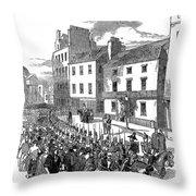 Scotland: Perth, 1848 Throw Pillow