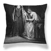 Scott: Ivanhoe, 1832 Throw Pillow