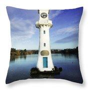 Scott Memorial Lighthouse 2 Throw Pillow