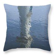 Scott Memorial Lighthouse Reflection Throw Pillow