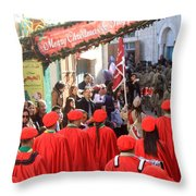 Scouts Parade In Bethlehem At Star Street Throw Pillow