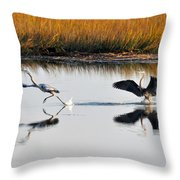Scram Throw Pillow