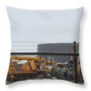 Scrapyard Machinery Throw Pillow