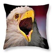 Screaming Eagle I Throw Pillow