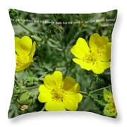 Scriptue And Picture Isaiah 40 8 Throw Pillow