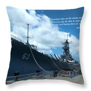 Scripture And Picture Ehesians 6 13 Throw Pillow