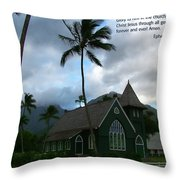 Scripture And Picture Ephesians 3 21 Throw Pillow