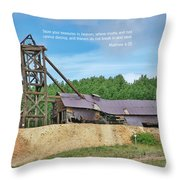 Scripture And Picture Matthew 6 20 Throw Pillow
