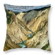 Scripture And Picture Psalm 104 24 Throw Pillow