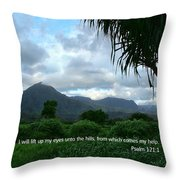 Scripture And Picture Psalm 121 1 Throw Pillow