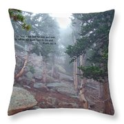 Scripture And Picture Psalm 48 14 Throw Pillow