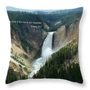 Scripture And Picture Psalms 42 7 Throw Pillow
