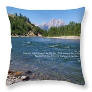 Scripture And Picture Revelation 22 1 Throw Pillow